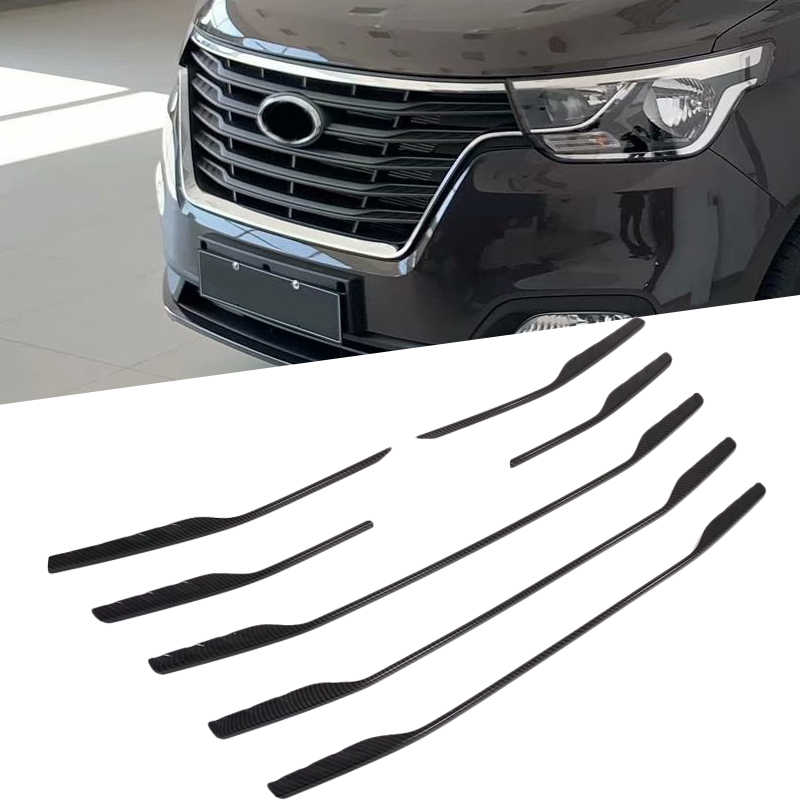 ABS Chrome Center Grilles Racing Grill Assembly Strips Trim For Hyundai Grand Starex H-1 i800 2018-2020 Car Styling Acessories