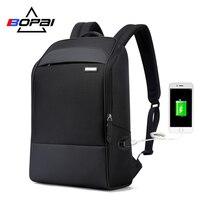 BOPAI Business männer Rucksack für Reisen 15,6 Zoll Wasserdichte USB Lade Casual Laptop Rucksack Studenten Kühlen Schule Tasche
