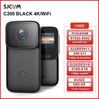 SJCAM-Cámara de acción C200, 4K, 16MP, NTK96660, WiFi, giroscopio, Nision antivibración nocturna, 40M, deportes, DV, Webcam, cámara para pulgar