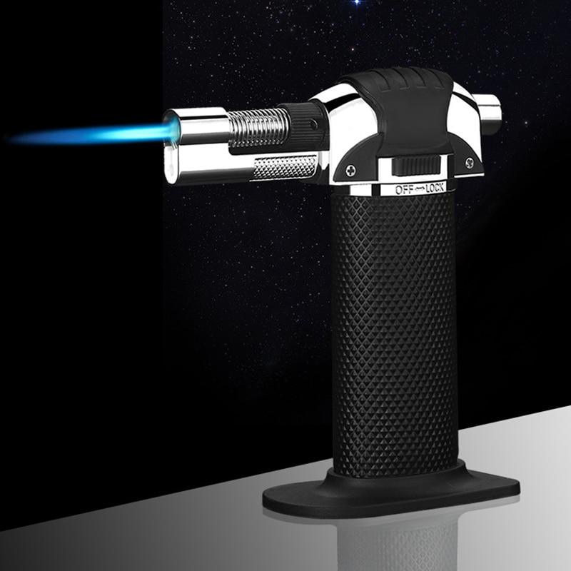 Adjustable Flame BBQ Kitchen Welding Torch Lighter Butane Jet Gas Lighter Turbo Portable Windproof Cigar Pipe Lighter Outdoor