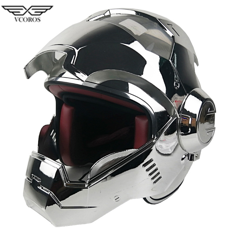 Iron Man Helmet Flip-Up ABS Shell S M L XL XXL Size Washable Fully Removable New