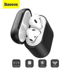 Baseus מקרה Qi טעינה אלחוטי עבור Airpods נגד לדפוק סיליקון מגן כיסוי עבור Airpod אוויר תרמילי Coque עם Wired טעינה