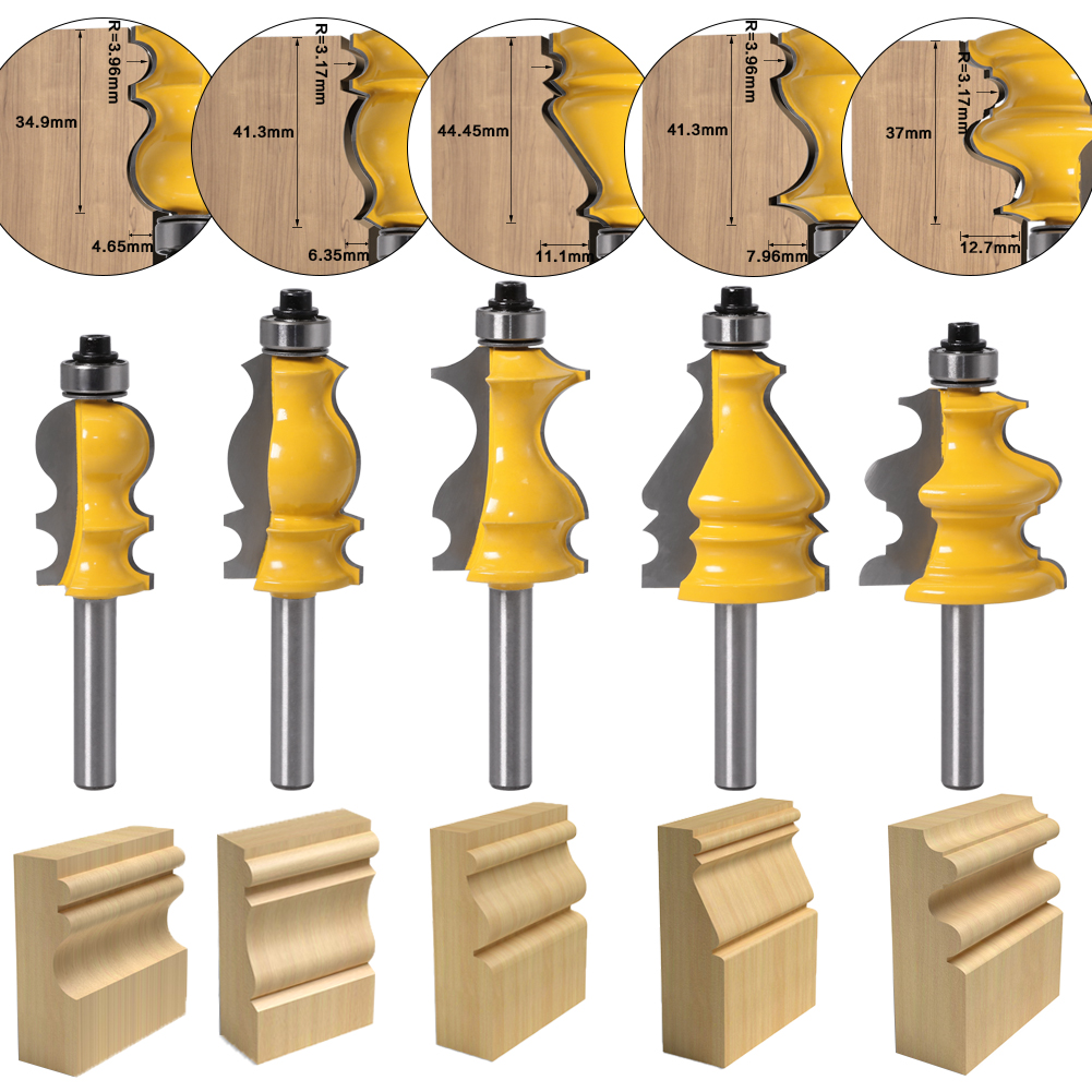 1pc Cove Edging and Molding Router Bit with 22mm Cutting Dia 1//4-Inch Shank