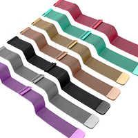 20mm/22mm Universal Milanes loop strap Magnetic Closure Stainless Steel Watch Band Quick Release metal smartwatch bracelet belt