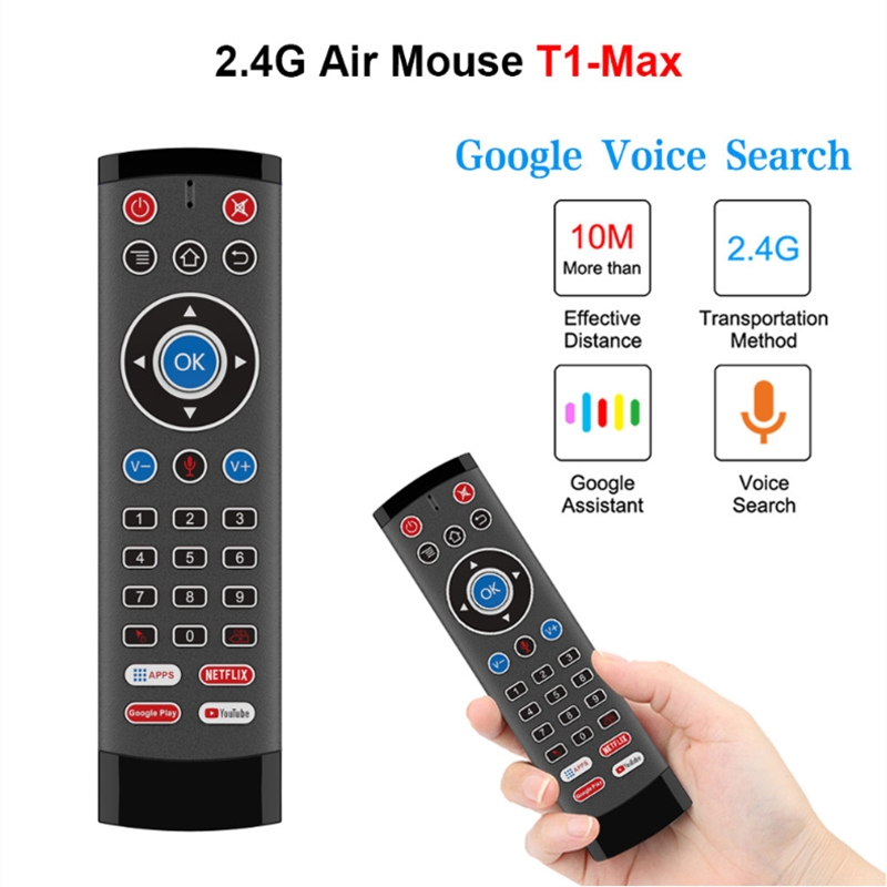 2.4G Wireless Air Mouse Remote Control Voice Backlit Gyroscope IR Learning Airmouse for Google Assistant Netflix Youtube TV Box
