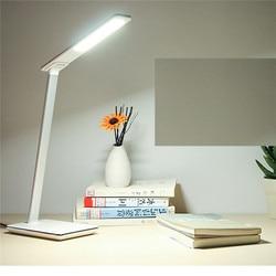 CHENGYILT LED lampa biurkowa składana ściemniająca obrotowa do pielęgnacji oczu LED dotykowy kontroler USB Port ładowania lampa stołowa Lampy na biurko    -