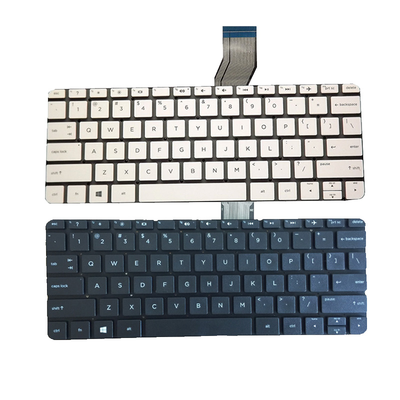 New US Laptop Keyboard For HP Stream 11-d 11-d011wm 11-D010WM 792906-001 794447-001 English White And Black No Frame