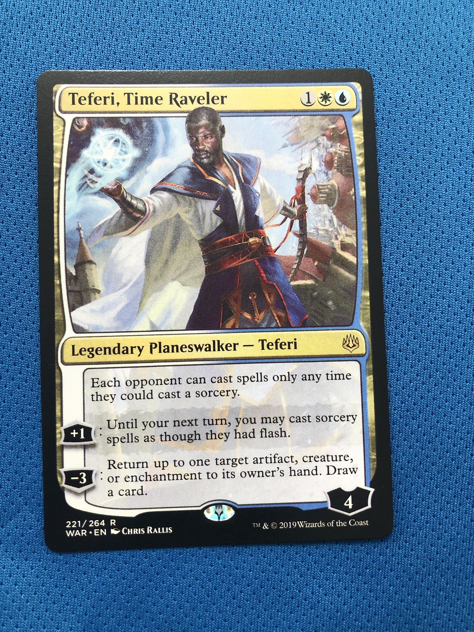 Teferi, Time Raveler WAR Hologram Magician ProxyKing 8.0 VIP The Proxy Cards To Gathering Every Single Mg Card.