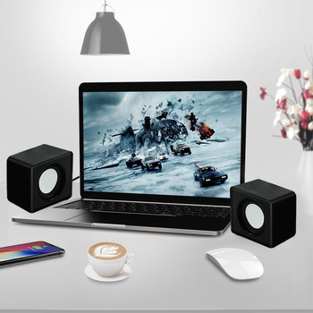 Kebidumei Mini Music Loudspeaker USB 2.0 Stereo Speakers for PC Laptop Notebook Computer Desktop Home Theater Party 6