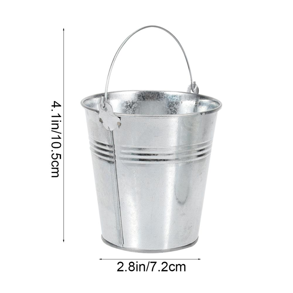 6pcs 10.5x7.2x10.5cm Mini Tinplate Metal Kovada Fransız Qızartma - Mətbəx, yemək otağı və barı - Fotoqrafiya 6