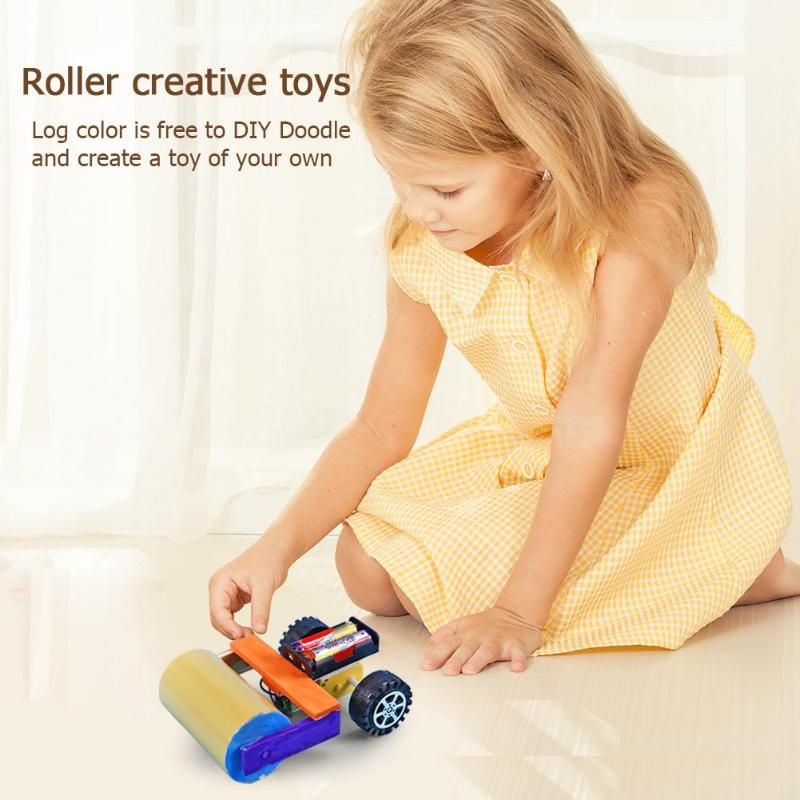 Superb Craftsmanship DIY Assembly Road Roller Smooth Appearance Science Experiment Model Toy Materials Kits Craft