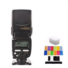 YONGNUO YN685 YN-685 Wireless HSS TTL Speedlite Flash Build in Receiver + YN622C-TX + 12 pcs color cards yongnuo yn 622c yn622c yn622 622c tx wireless ttl hss flash trigger set for canon support yn685c yn 685c yn 568ex ii yn568ex ii