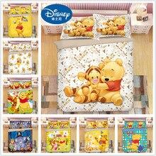 купить Disney Winnie the Pooh bedding set twin size duvet cover for kids bedroom decora boys double bed set single queen king bedspread дешево