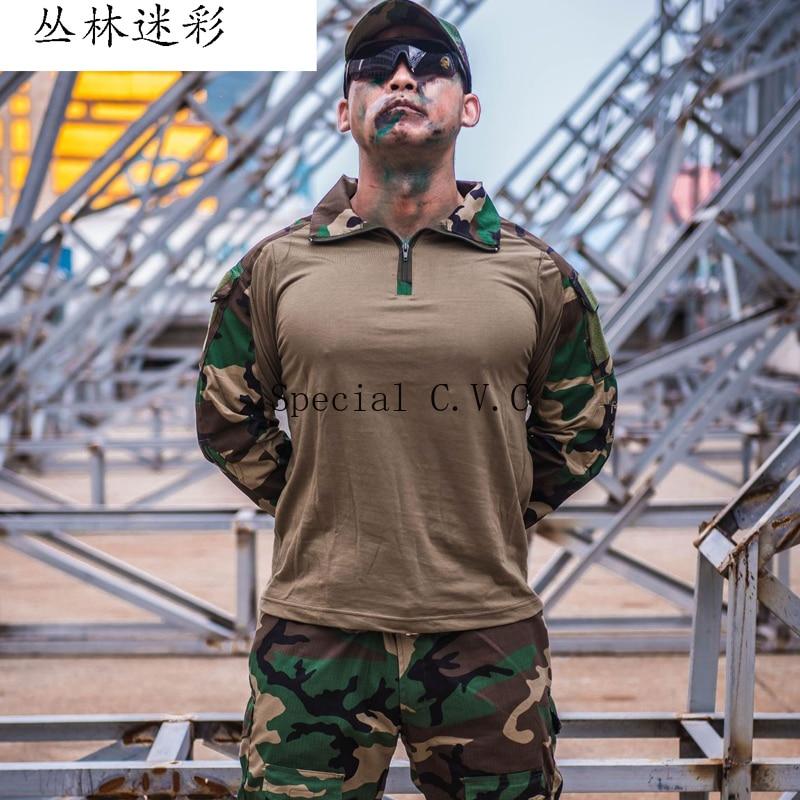 Roupas de Camuflagem tático Uniforme Militar Terno Homens Do Exército DOS EUA Roupas Shirt + Calças de Carga Combate Militar - 4