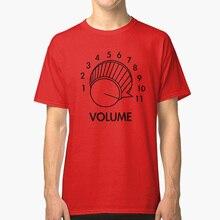 Perilla de volumen hasta 11 punción lumbar inspirado guitarra divertida T shirt pincel Tap rock divertida película clásica guitarra de música clásica