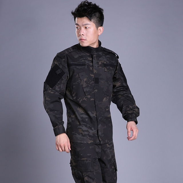 Tactical BDU Multicam Black Camouflage Army Military Uniform Combat Shirt Pants Airsoft Sniper Clothing Camo Hunting Clothes 3