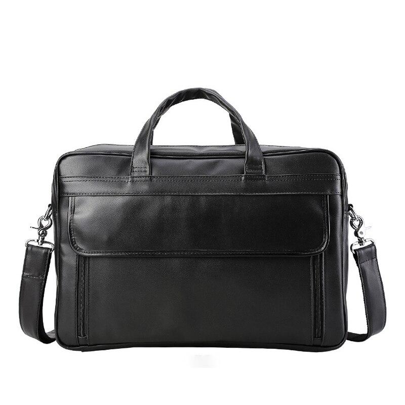 Briefcase 100% Real Genuine Leather Bag Men High Quality Cow Leather Men Bag 17 Inch Computer Bag Laptop Mens Messenger Bag
