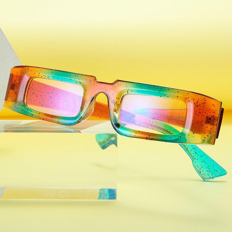 KeiKeSweet Новое поступление Модные Винтажные Квадратные Солнцезащитные очки женские прозрачные крутые роскошные очки для вечерние UV400 очки вы...