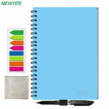 NEWYES A5 Smart portable réutilisable effaçable wirebond cahier nuage stockage App sans papier imperméable à leau journal intime livre cadeaux