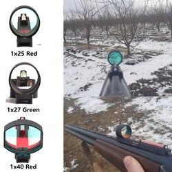 Vermelho/verde dot sight tactical 1x2 5/1x2 7/1x40 fibra escopo vista holográfica ajuste espingarda rib ferroviário caça tiro