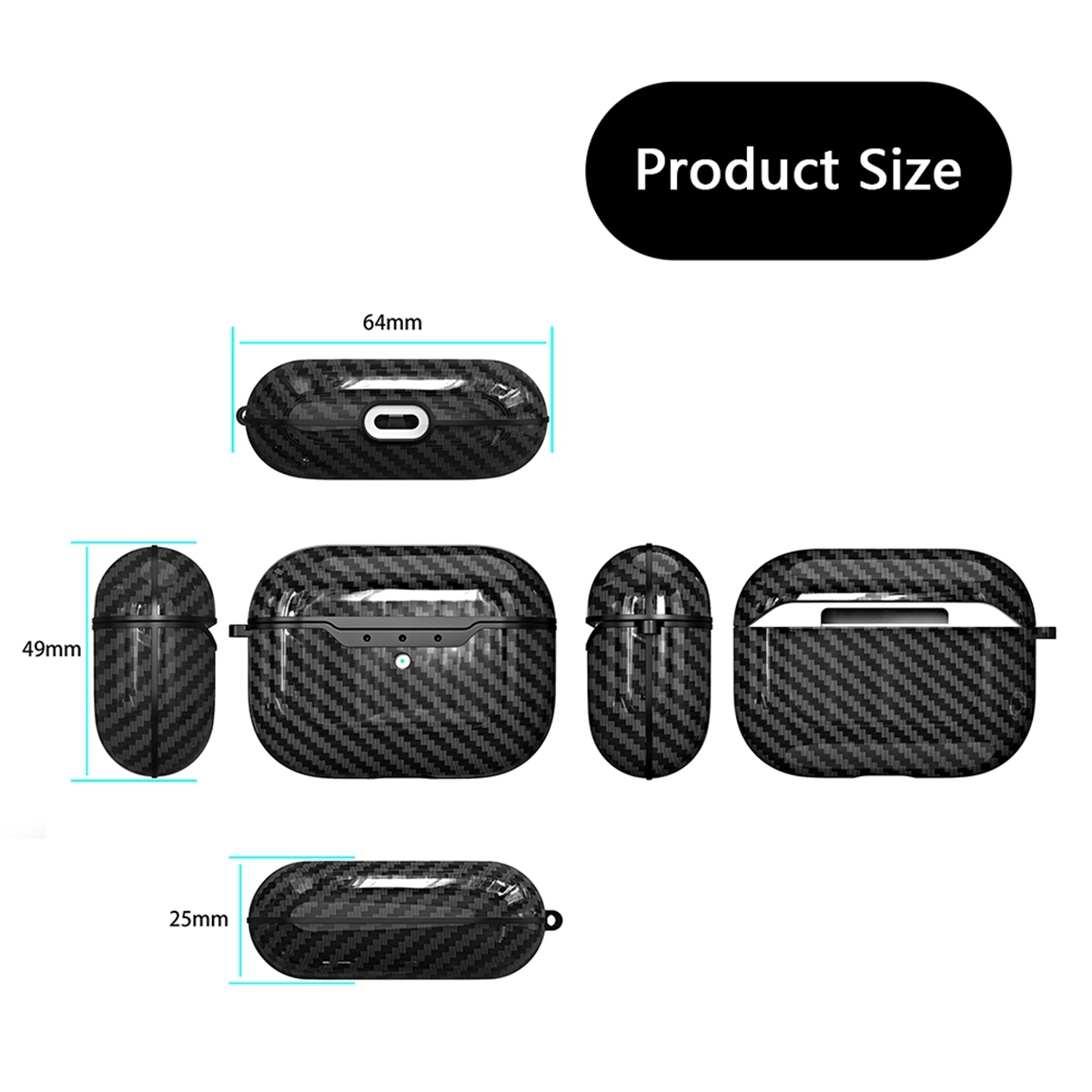 Carbon Fiber Case for AirPods Pro 67