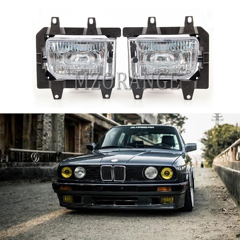 For <font><b>BMW</b></font> <font><b>E30</b></font> headlight Fog Lights 1985-1993 fog light <font><b>318i</b></font> 325i 2Pcs Front Bumper fog lamps fog Lamp Case cover DRL headlights image