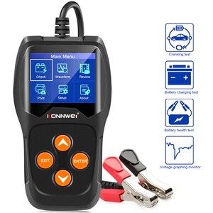 Image 1 - KONNWEI – testeur de batterie de voiture KW600, analyseur 12V, 100 à 2000CCA, Test de santé de la batterie/défauts, écran couleur numérique 12V, Diagnostic automatique