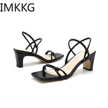 Classics High Heels Sandals Women Strap White Sandals Ladies