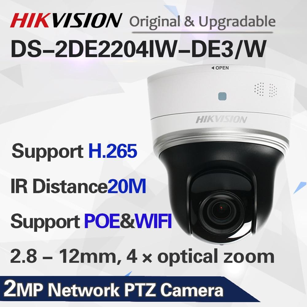 DS-2DE2204IW-DE3/W 2MP ptz-камера видеонаблюдения wifi 4x оптический зум POE ip камера безопасности H.265
