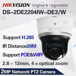DS-2DE2204IW-DE3/W 2MP CCTV PTZ camera WIFI 4x optical zoom POE ip security camera H.265