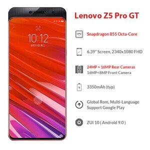 Image 2 - הגלובלי ROM Lenovo Z5 GT Pro Snapdragon 855 Smartphone 8GB RAM 256GB 128GB ROM 6.39 ב מסך טביעת אצבע 24MP