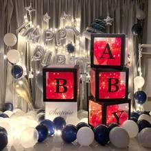 AMOR. Byby net vermelho transparente caixa de 4 peças festa de casamento publicidade decoração de aniversário cena decoração balão caixa 151
