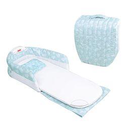 Cama de bebé suave algodón cómodo portátil plegable medio cercado Multi-función con música noche colchón para niño niña
