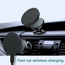 Cargador inalámbrico para coche, cargador de seguridad magnético de 15W, para IPhone 12 / Pro