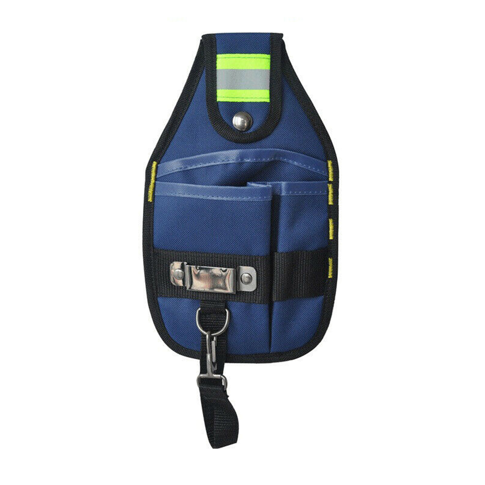 Protable Reflective Strip High Capacity Work Electrician Tool Bag Oxford Cloth Storage Holder Wear Resistant Waist Pocket Belt