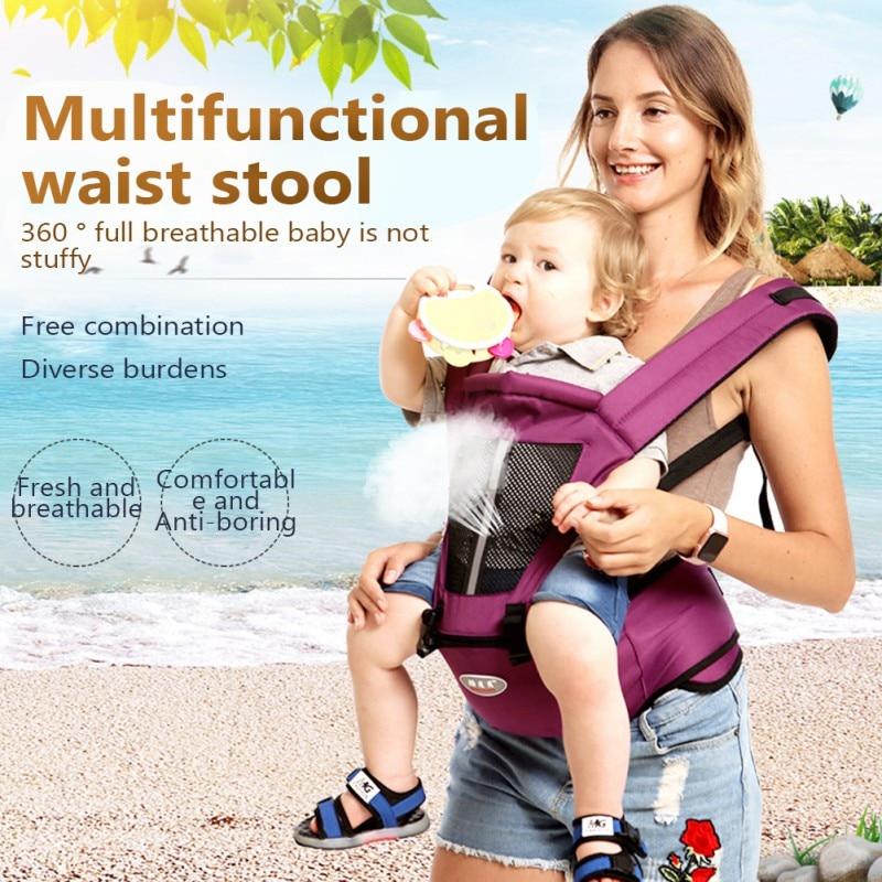 0-36 Months Newborn Baby Carrier Kangaroo Toddler Sling Wrap Portable Infant Hipseat Soft Breathable Adjustable Hipseat