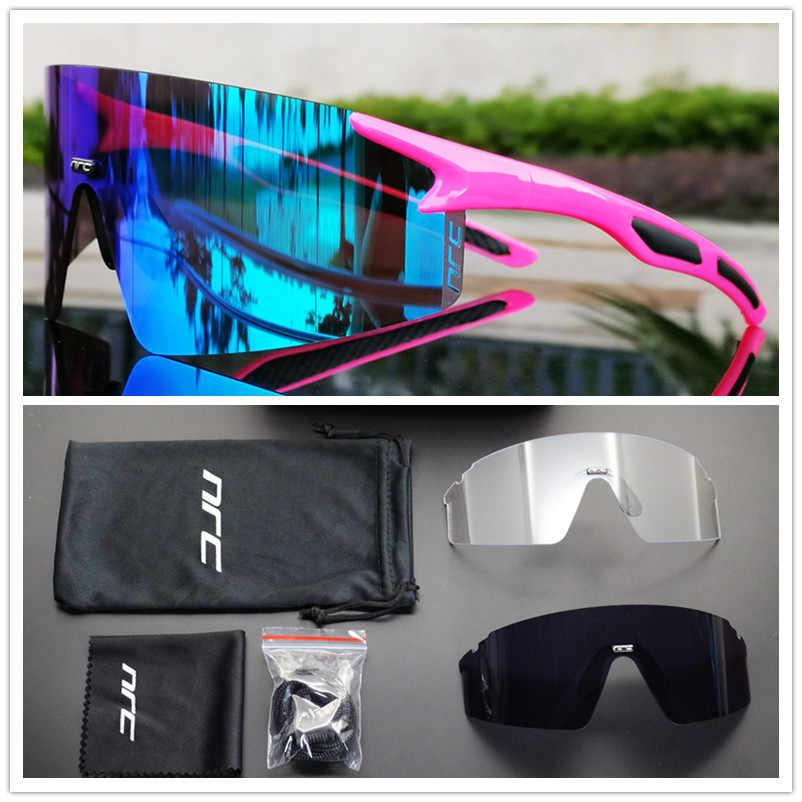 Велосипедные очки NRC, для мужчин и женщин, UV400, спортивные велосипедные солнцезащитные очки, регулируемые очки с переносицей для горных и дорожных велосипедов, очки для бега и езды на велосипеде