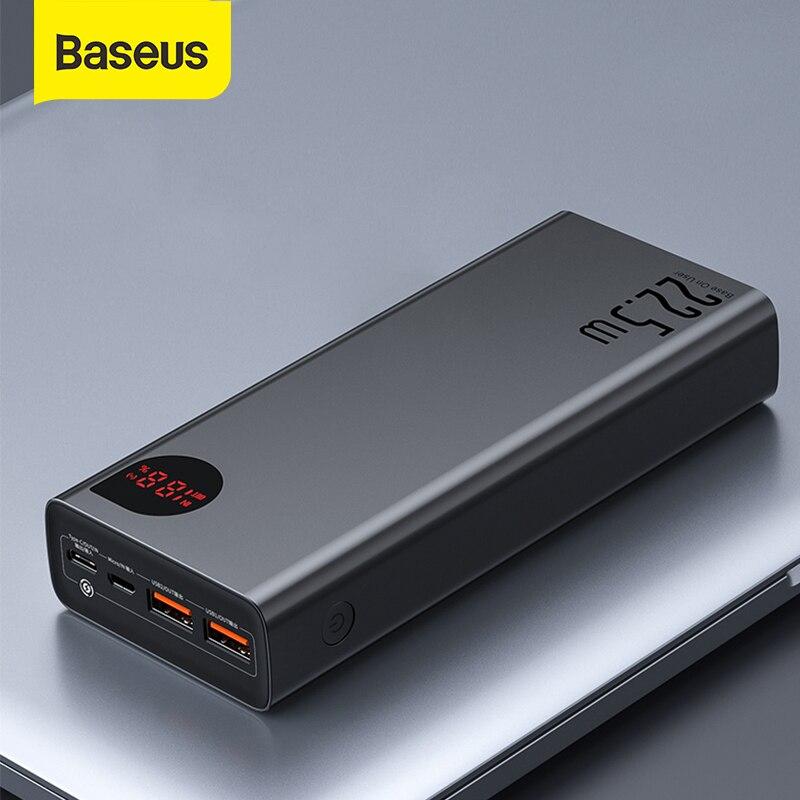 Baseus – batterie externe Portable 30000mAh, avec chargeur rapide 20W PD, pour iPhone 12 Pro Xiaomi Huawei |