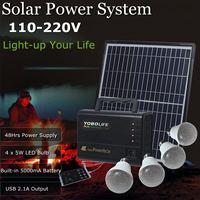 18V Solar Power Generator LED Light USB Charger Solar Panel Power Storage Generator Rechargeable Sealed Lead acid Battery
