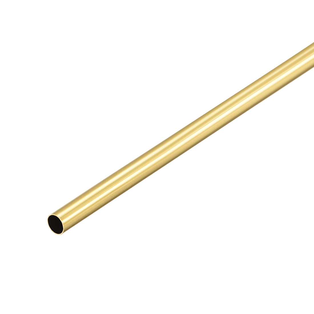 Uxcell Brass Round Tube 300mm Length 4.5mm OD 0.2mm Wall Thickness Seamless Straight Pipe Tubing