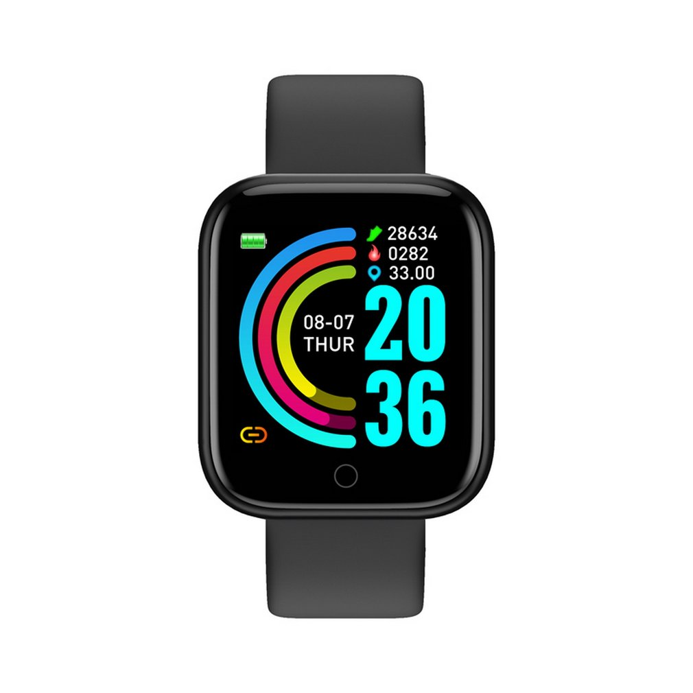Hot Sale Smart Watch Y68 Waterproof Bluetooth Sport SmartWatch Men For IPhone Fitness Tracker Heart Rate Monitor Women