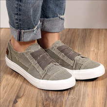 Women's Canvas Vulcanize Shoes Spring Summer New Casual Slip