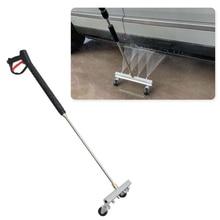 Нержавеющая сталь высокого давления инструмент для мытья автомобиля очистка шасси автомобиля спрей для воды щетка для мытья земли инструменты для чистки с 4 насадками