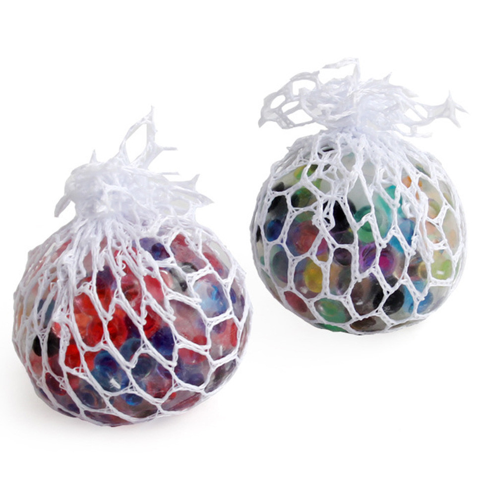 Decompression Toys Ball-Stress Squishy Squeeze Rainbow Funny Anxiety Relief 1PC Mesh img2