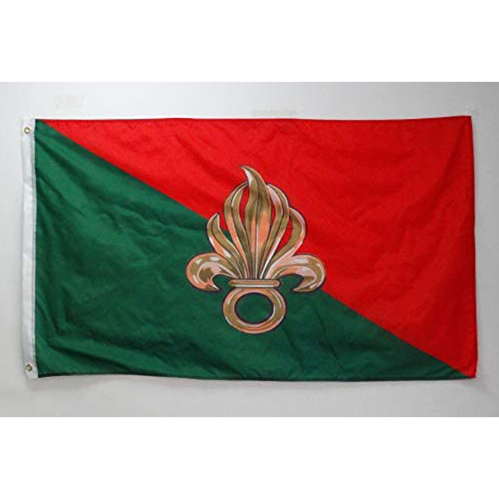 Flagnshow 3x5 ft French Foreign Legion Flag Army of France Flags 90 x 150 cm