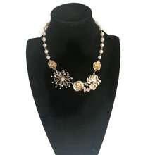 Rose feak pearl necklaces graceful chic gifts for women weeding