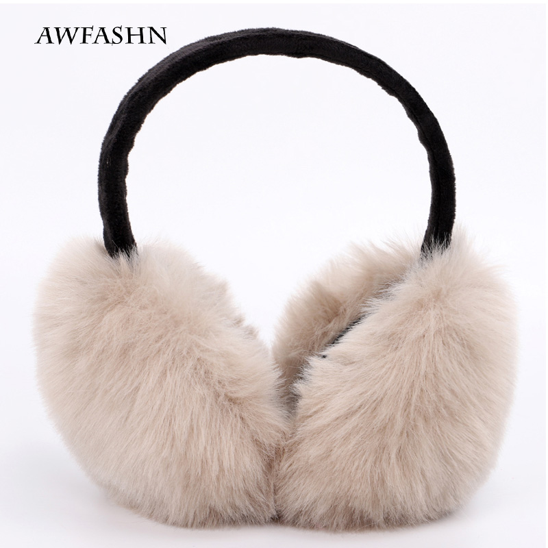 Women's Fashion Earmuffs Brand Winter Earmuffs Warm Fur Ear Warmer Girls Earmuffs Solid Color Soft Plush Ear Warm Cute