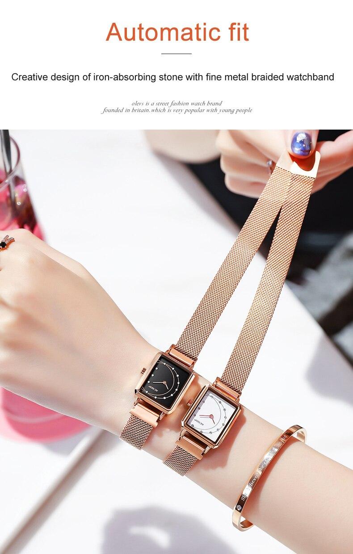 de luxo pulseira relógio das mulheres à