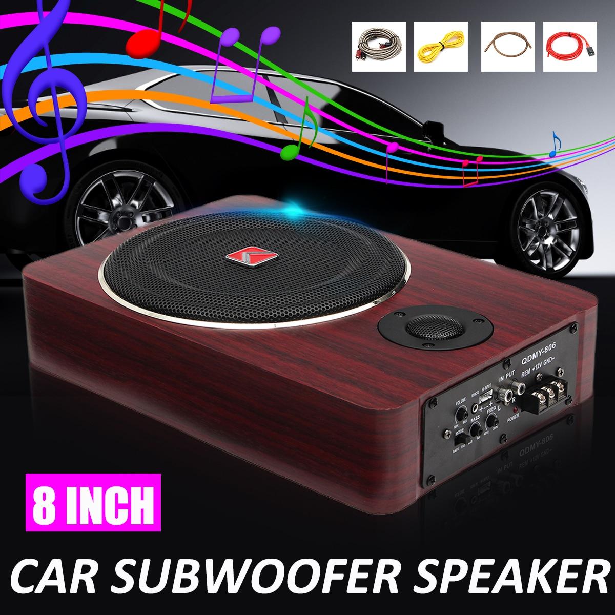 8 cal 600W subwoofery samochodowe Speaker12V Auto mocy czynnej Audio Stereo mosiądz wzmacniacz subwoofera głośniki