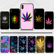 Art High Weed Pictures Abstractionism Leaf Grass Phone Case cover Shell For iphone 5 5S SE 5C 6 6S 7 8 plus X XS XR 11 PRO MAX